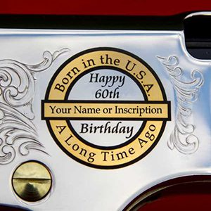 Silver Boy (H004S) .22LR, .22MAG, .17HMR with Classic 50th or 60th Birthday Engraving w/wo Special Serial Number