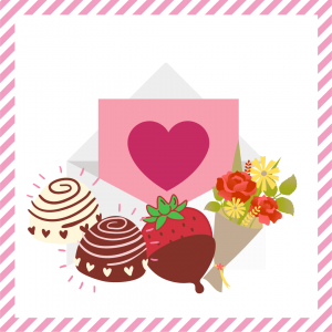 Package 3 – Cupid-gram with strawberries or truffles and a mixed bouquet