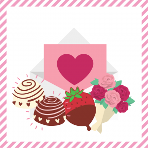 Package 4 – Cupid-gram with strawberries or truffles and a half dozen assorted roses