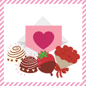Package 6 – Cupid-gram with strawberries or truffles and a dozen red roses