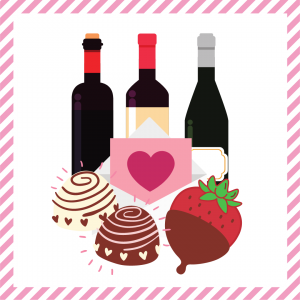 Package 7 – Cupid-gram with strawberries or truffles and a bottle of wine